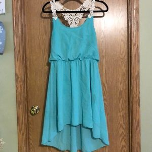 Rue 21 High Low Dress w/ Embroidered Straps